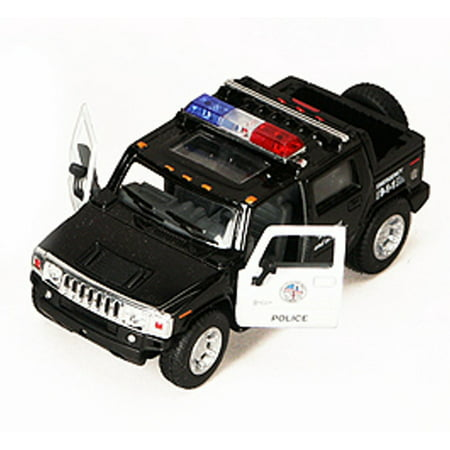 2005 Hummer H2 SUT Police Pickup Truck - Kinsmart 5097DP - 1/40 scale Diecast Model Toy Car (Brand New, but NOT IN BOX) (Hummer H2 Sut)