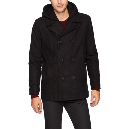 - Men Large Double Breasted Peacoat L