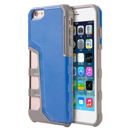 Insten Hard Hybrid TPU Case For Apple iPhone 6 / 6s - Blue/Gray - image 3 de 3