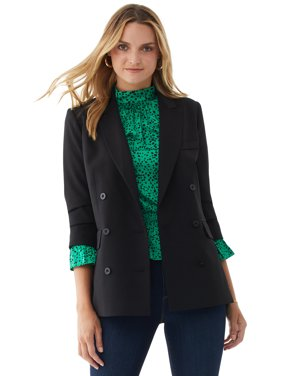 Scoop Womens Double-Breasted Blazer