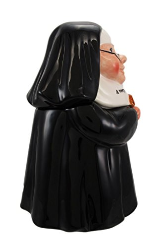 "Click here to buy PTC Nun Sister Ceramic Cookie Jar, 10"" H by PACIFIC GIFTWARE."