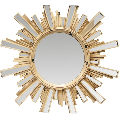 Kole Imports Paint Splattered Sunburst Mirror with Inlaid Ray