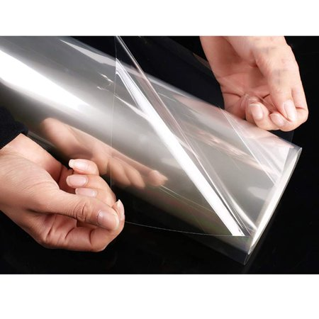 Meigar 4 Mil Self Adhesive Glass Protection Film Window Security Clear PET Film Shatterproof Explosion-Proof Building Safety,19.7''x78.7'' (4 Glass Windows)
