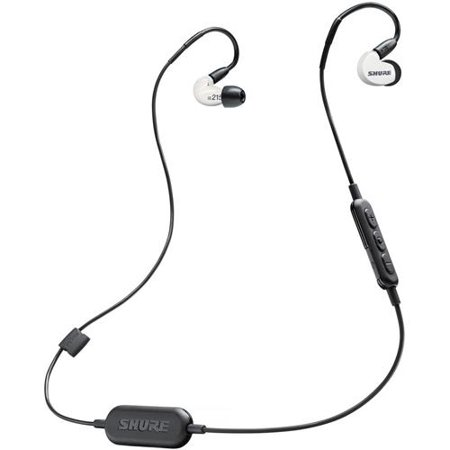 Shure SE215 Special Edition Sound Isolating Over-the-Ear Stereo Earphones with Universal 3.5mm Remote & Mic Cable for iOS/Android Devices, White ()