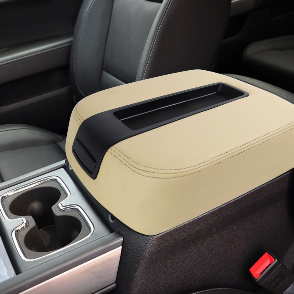 ustar Console Lid Center Armrest Cover for 2007-2014 Chevy Avalanche Tahoe Silverado Suburban GMC Yukon Sierra 1500 2500HD 3500HD Replaces 15217111 924-875 Black
