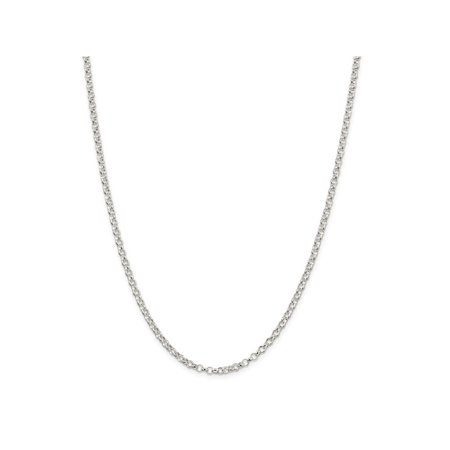 16 Toggle Rolo Necklace - 16 Inch Sterling Silver 3 mm Rolo Chain Necklace - 16 Inch