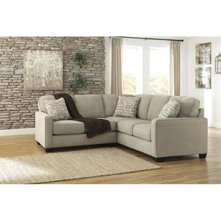 Ashley furniture alenya 2 piece fabric sectional in quartz for 2 piece sectional sofa ashley