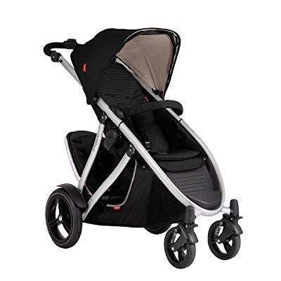 Phil & Teds verve v3 stroller with doubles kit (black)