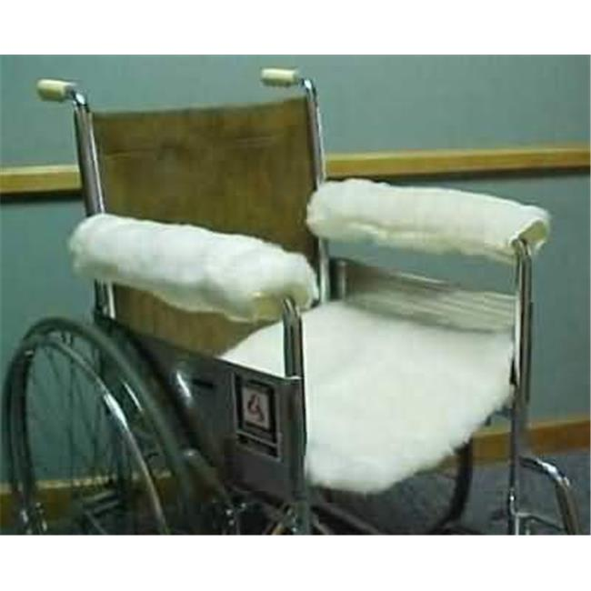 18 x 8 in. SnuggleWool Lambswool Wheelchair Armrest Covers