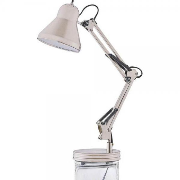 Boston Harbor WK-618E-3L Swing Arm Lamp Holder for Desk Lamp, Brushed Nickel by