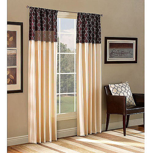 Walmart Curtains For Living Room Belle Maison Ludlow Reversible Curtain Panel  Walmart