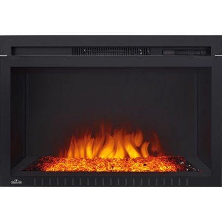 "Napoleon NEFB29G-3A 5000 BTU 29"" Wide Built-In Electric Fireplace with Glass Front from the Cinema Collection"