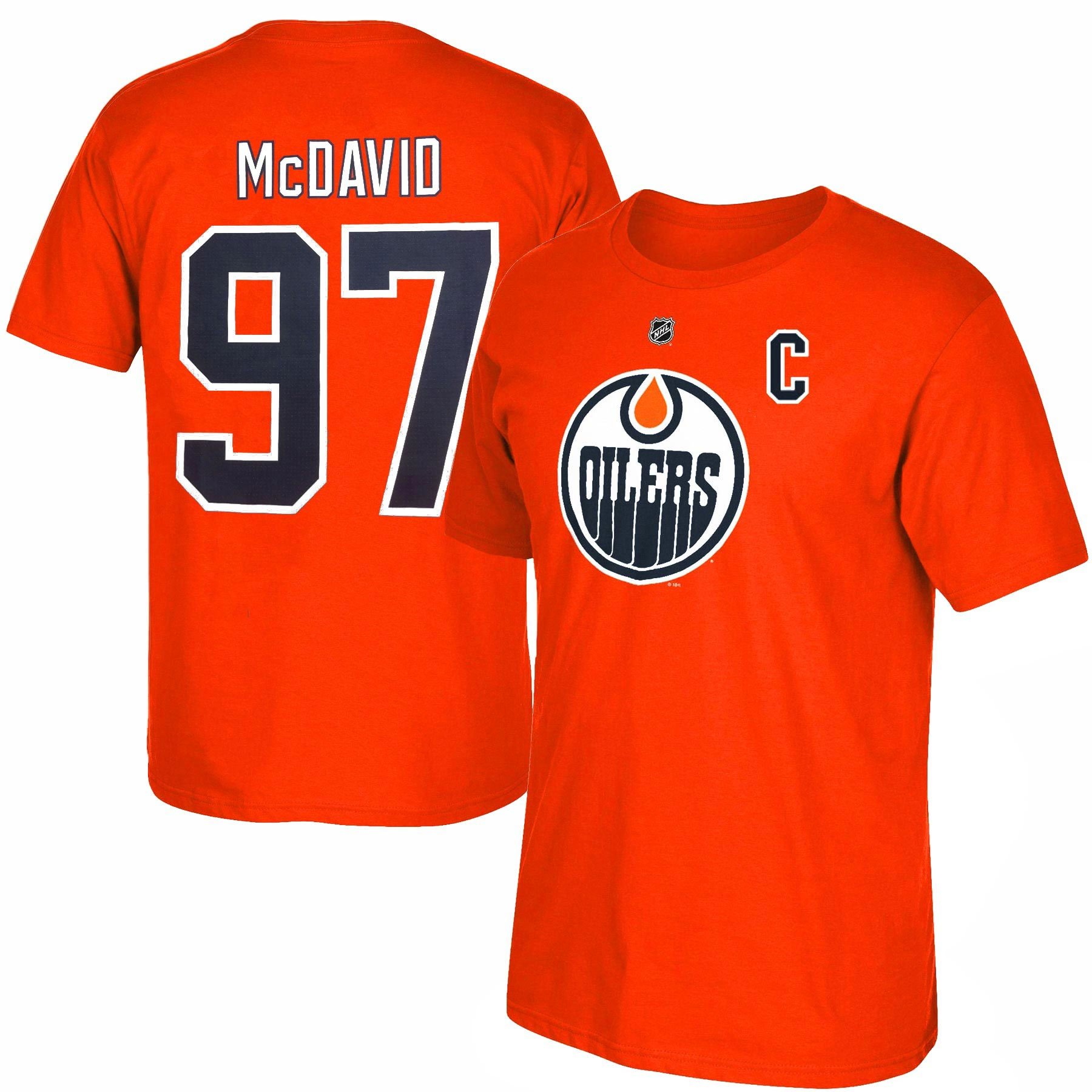 best service fc587 8ccf4 Edmonton Oilers Connor McDavid NHL YOUTH Player Name ...