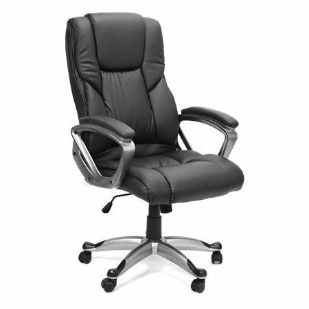 Executive Office Package - XtremepowerUS XLarge High Back Office Chair PU Leather Executive Swivel Lift, Black