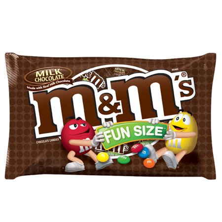 M&M's, Fun Size Milk Chocolate Candy, 10.53 Oz