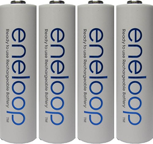 4 Pack Newest Version Panasonic Eneloop 4th Generation AA NiMH Pre-charged 2100 Times Rechargeable Batteries + Free Battery Holder