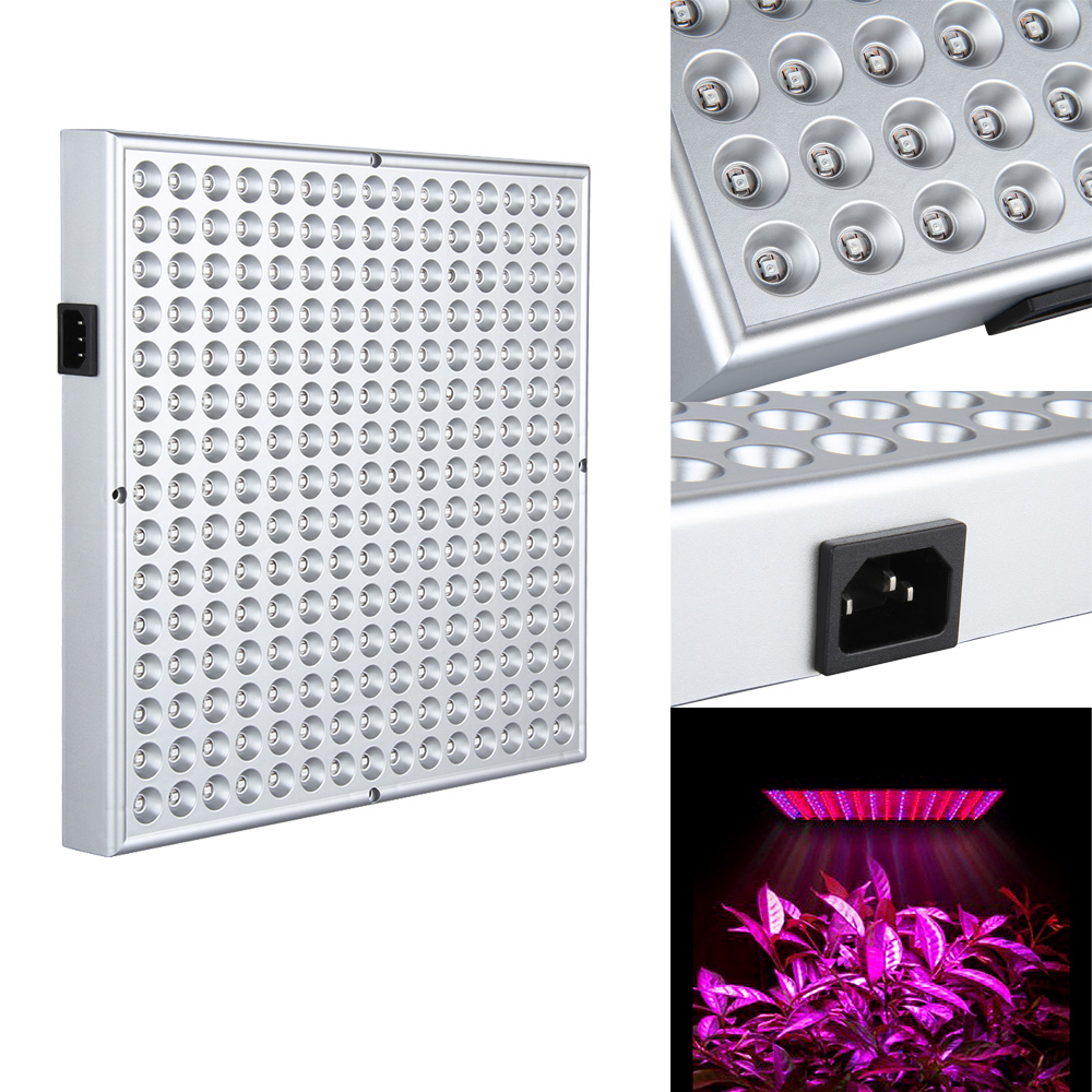 Ktaxon 225 LED Grow Light Hydroponic Lamp, Blue & Red, 14 Watts Quad-band Plant Light for greenhouse medical and indoor