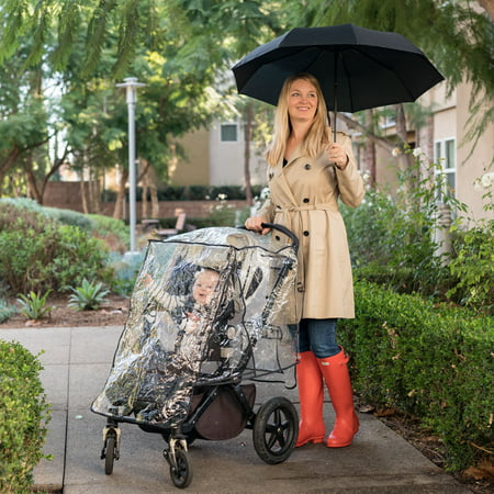 Combi Stroller Cover - J.L. Childress Universal Stroller Rain Cover Weather Shield