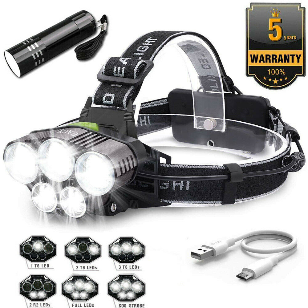 Details about  /Super bright 990000LM LED Headlamp 5 modes   Headlight  Torch   Flashlight