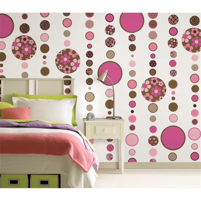WallPops WP96615 Gone Dotty Brown-Pink Pack