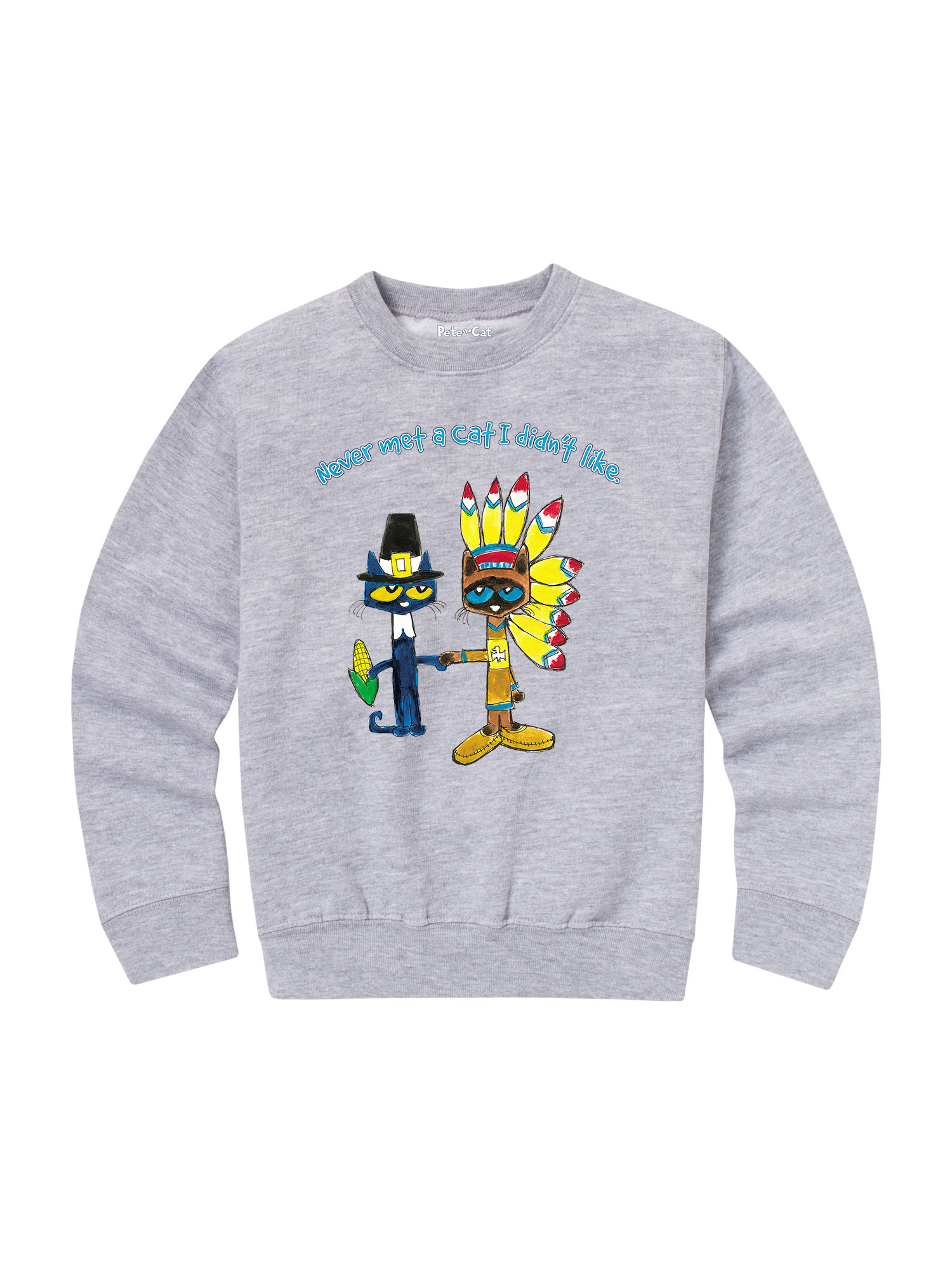 Pete The Cat Never Met A Cat - Toddler Crew Fleece