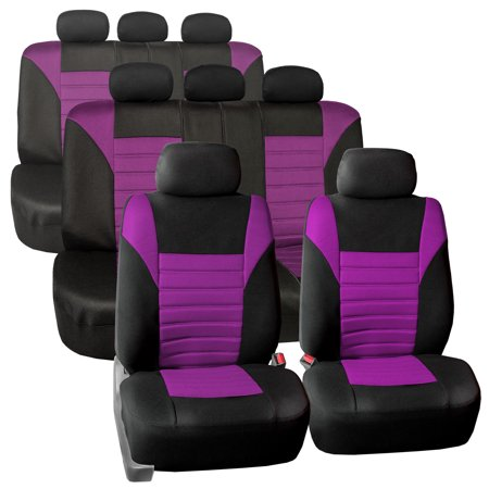 3 Row 8 Seaters SUV Seat Covers for Auto 3D Mesh Purple Black Full 3 Row Covers Set For SUV Van (Gt Seat Covers)
