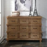 Acme Furniture Adams Antique Oak Dresser with a Nine Drawers