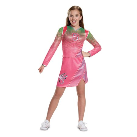 Patriot Cheerleaders Halloween (Z-o-m-b-i-e-s addison classic cheerleader child costume Kids L)