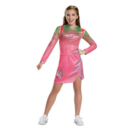 Z-o-m-b-i-e-s addison classic cheerleader child costume Kids L 10-12 - Patriots Cheerleader Costumes Halloween