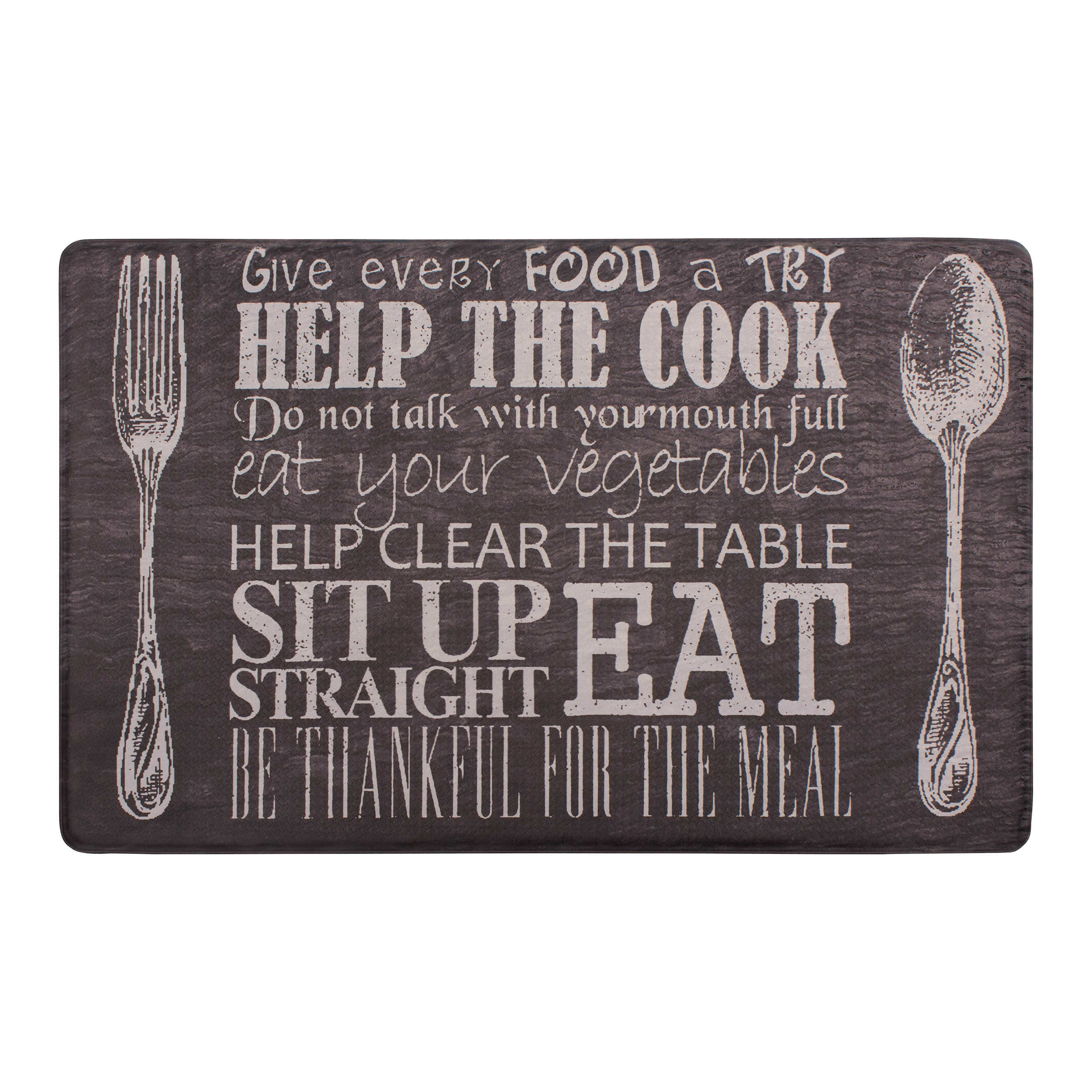Chef Gear Kitchen Etiquette 20 x 32 in. Gelness Mat, Black