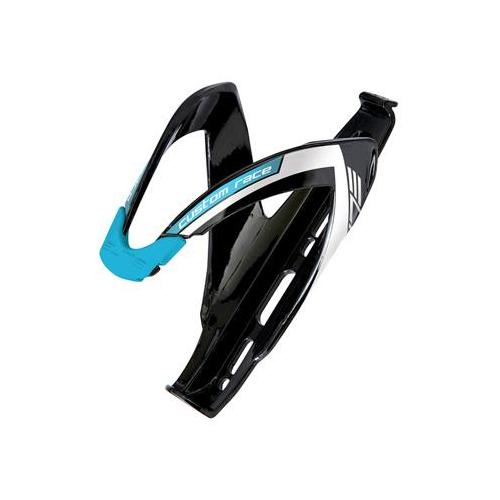 Elite Custom Race Bicycle Water Bottle Cage  (Gloss Black/Blue)