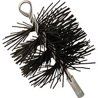 Imperial BR0077 Round Chimney Brush, 6 in, Polypropylene Handle