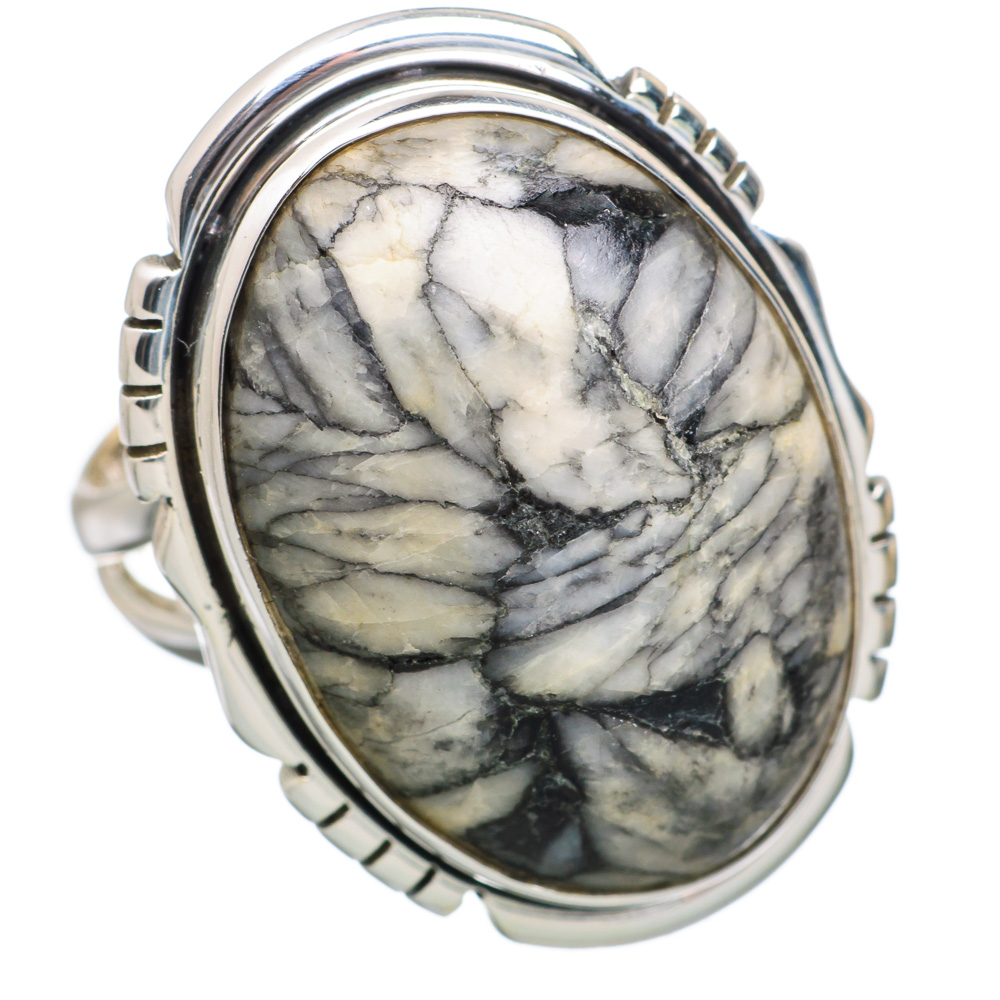 Ana Co Pinolith Jasper 925 Sterling Silver Ring Size 8 RING812639