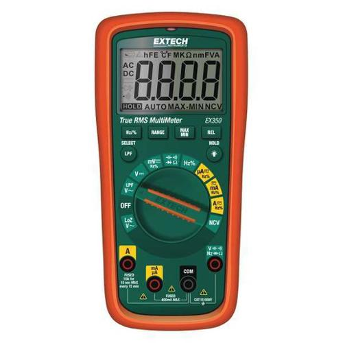 EXTECH EX350 Multimeter,10 MHz,AA,Full Size Style G3321398