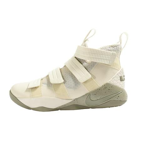 Men's LeBron Soldier XI SFG Basketball Shoe Light Bone/Dark Stucco-Black 11.5