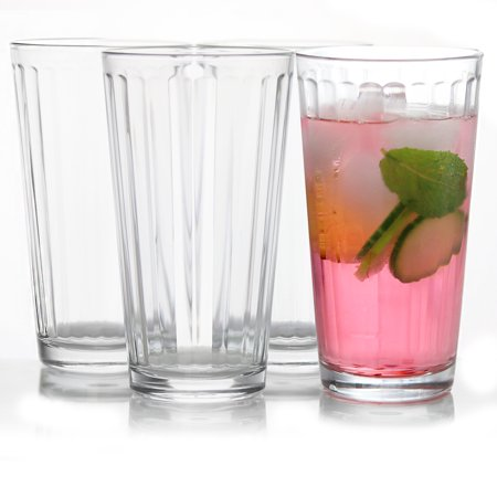 4-Piece 16.75 oz Cooler Glass Set