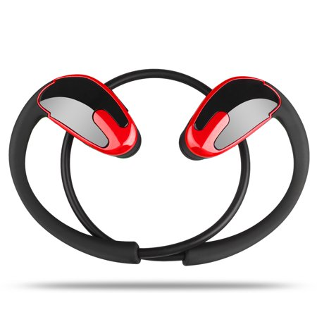 TSV Bluetooth Headphones, Wireless Sports Earphones with Mic, Tested & Proven Best Audio Quality Waterproof & Sweatproof Earbuds in HD Stereo for Gym, Workout & Running, Noise