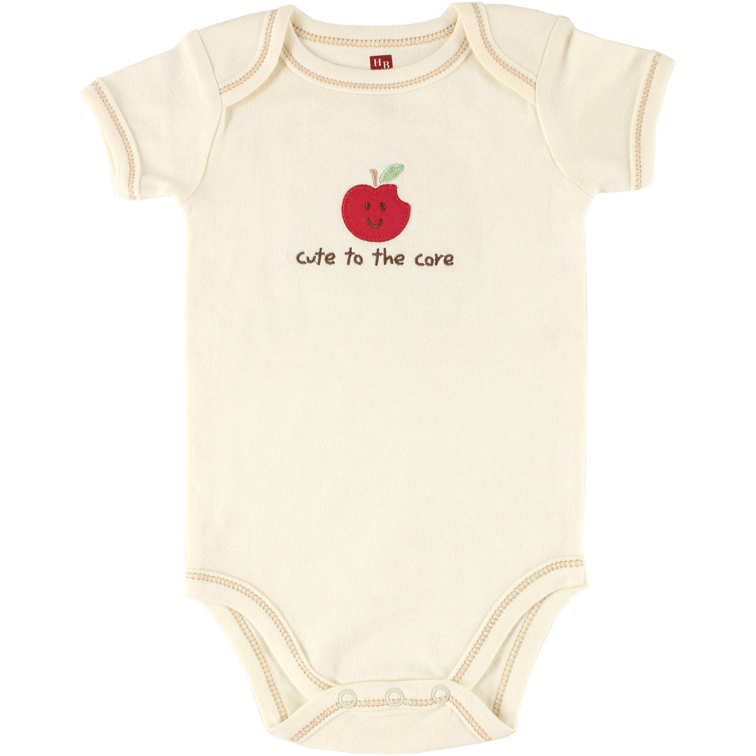 Touched by Nature Newborn Baby Neutral Organic Bodysuit Apple