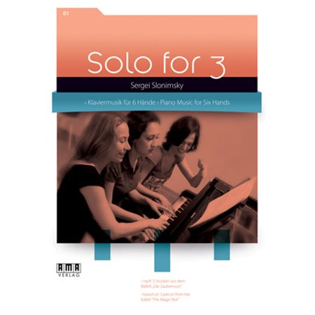 Solo for 3 Piano Vol 1 Music for 6 Hands Sergei Slonimsky - by Sergei Slonimsky - SongBook - 610445 - Greatest Solo Songbook