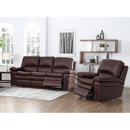 Red Barrel Studio Geismar 2 Piece Leather Reclining Living