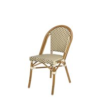 Source Contract SC-2203-162-CRC Paris Dining Side Chair, Cream & Chocolate