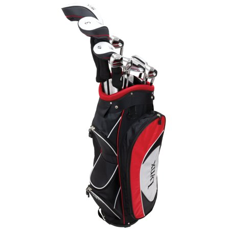 Lynx Power Tune Men's Complete 11-Piece Golf Club Set with Cart Bag, Right Handed ()