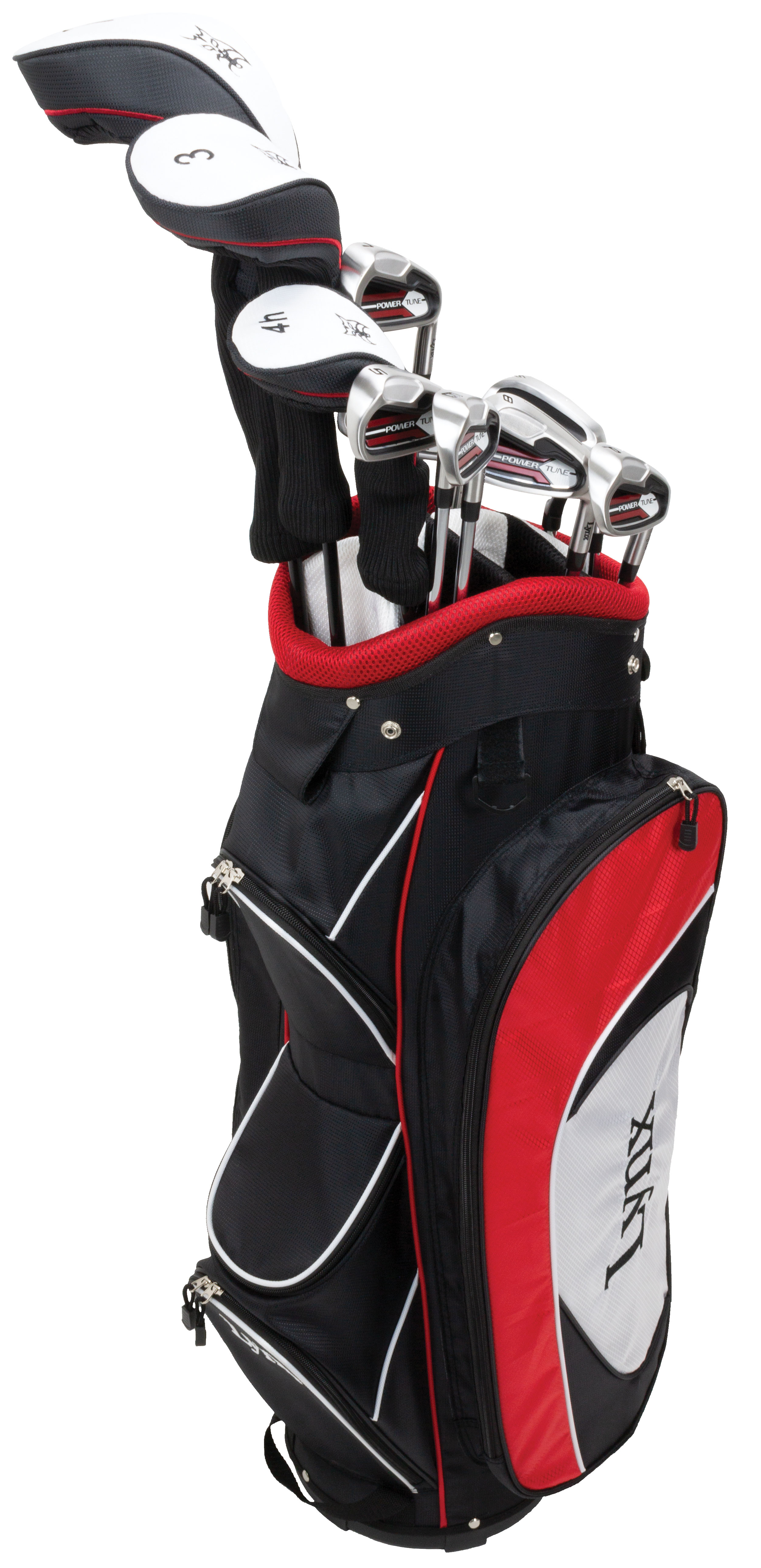 Lynx Power Tune Men's Complete 11-Piece Golf Club Set with Cart Bag