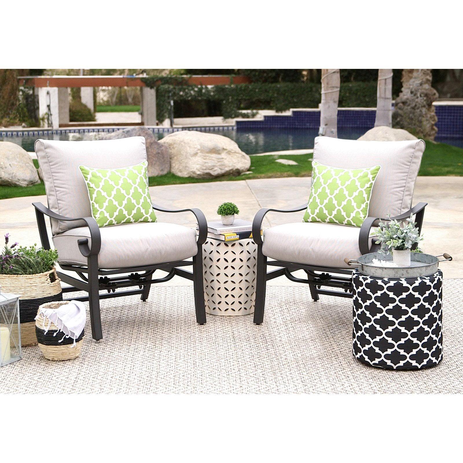 Belham Living Danbury Stationary Rocker Lounge Chair - Set of 2