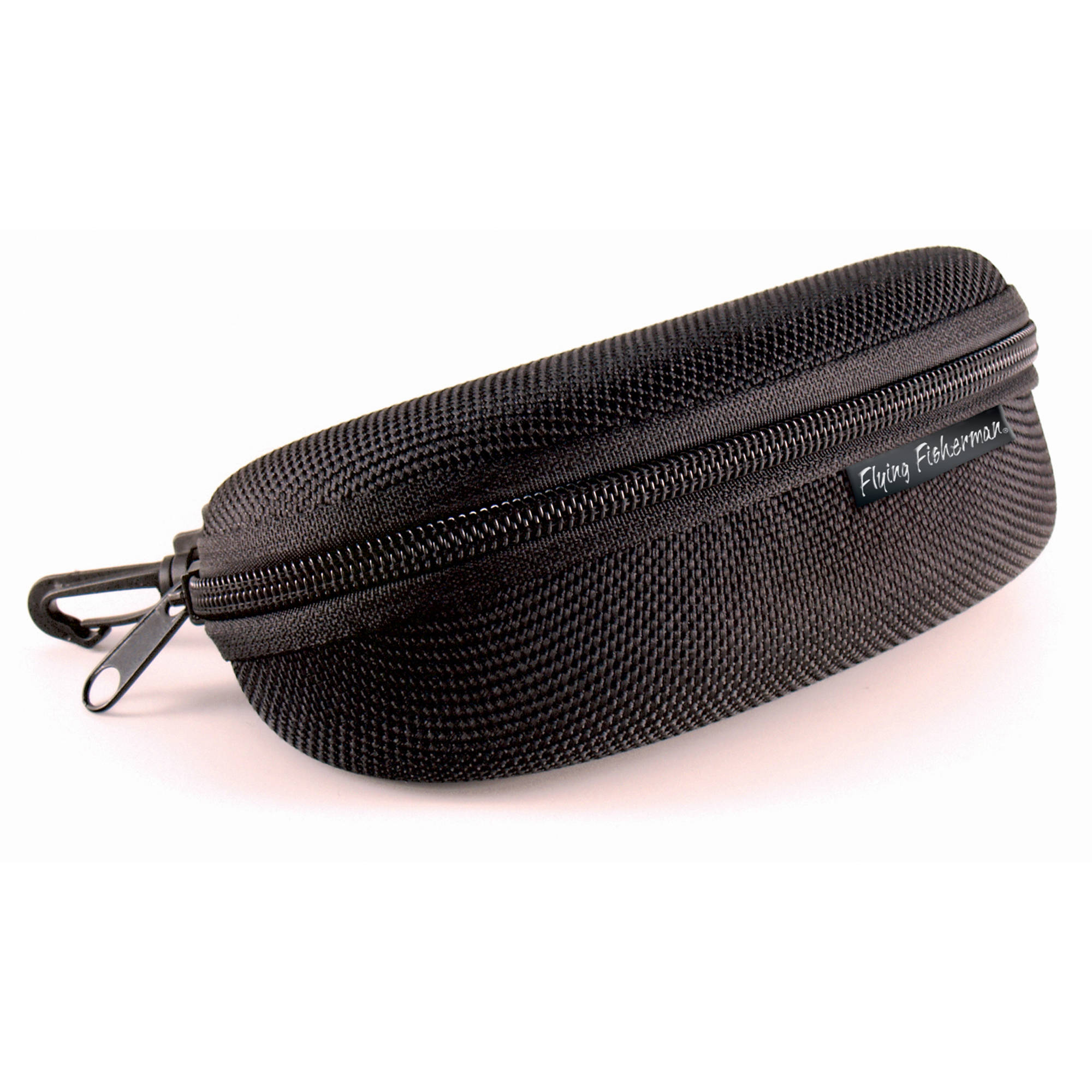 Flying Fisherman Sunglass Case, Zipper Shell With Clip Hook by Flying Fisherman
