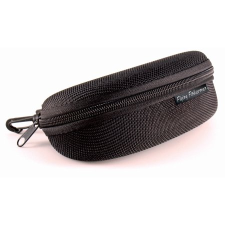 Flying Fisherman Sunglass Case, Zipper Shell With Clip (Clip On Sunglass Case)