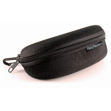 Flying Fisherman Sunglass Case, Zipper Shell With Clip (Clip Sunglass)