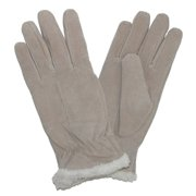 Isotoner Womens Camel Tan Suede Gloves with Sherpasoft Lining