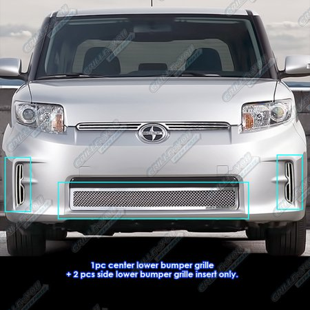 Scion Tc Mesh Grill (Compatible with 2011-2013 Scion XB Bumper Stainless Steel Mesh Grille Grill Insert T76853T)