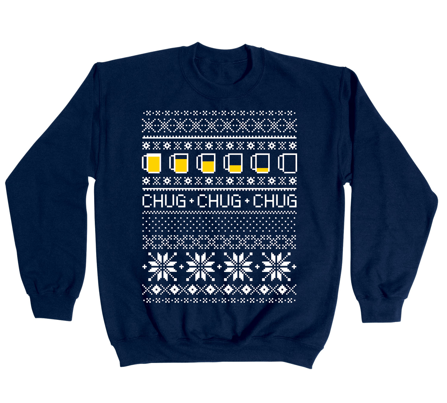 Ugly Sweater Chug Beer Christmas Holiday Cool Drinking Party ...
